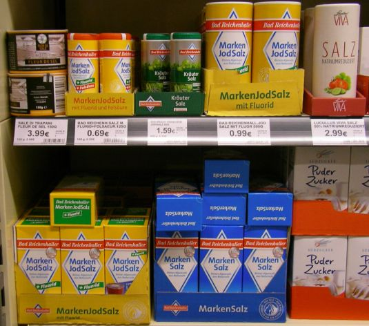 Jodsalz im Supermarkt