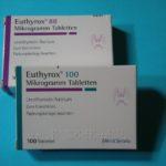 Euthyrox-Schachteln, alte Rezeptur